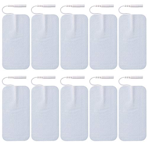 10 Pieces TENS Replacement Electrodes Pads Self Adhesive and Reusable Large Pads