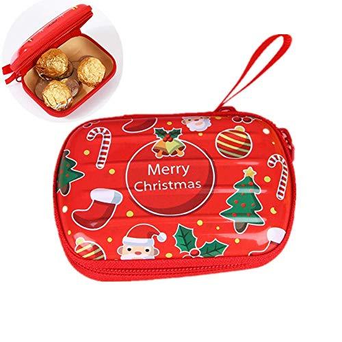 ZLJ Cable Wrap Holder Monedero Sombrero de Navidad Monedero Mini Monederos Monedero con Letras Monedero Impermeable Bolsa de Almacenamiento Digital Monedero Impermeable 3