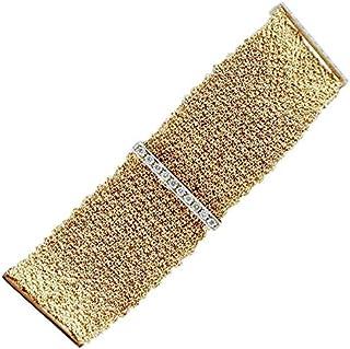 Bracciale Fascia Oro Giallo 18kt e Diamanti
