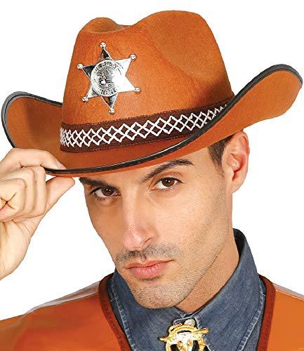 Fancy Me Herren Damen Cowboyhut Sheriff Hut Wild West Kostüm Outfit Zubehör