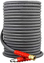 RIDGE WASHER Pressure Washer Hose for Hot and Cold Water, 50 FT, 3/8 Inch, High Tensile Wire Braided, 4000 PSI