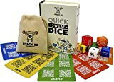Stack 52 Quick Sweat Fitness Dice. Bodyweight Exercise Workout Game. Designed by a Military Fitness Expert. Video Instructions Included. No Equipment Needed. Burn Fat Build Muscle. (2019 Base Set)