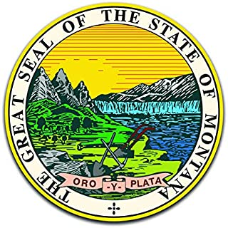 Montana State Seal (2 Pack) Vinyl Decal Sticker - Car Truck Van SUV Window Wall Cup Laptop - Two 5 Inch Decals - MKS0913