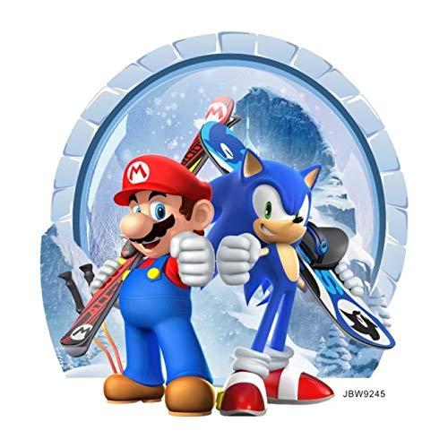 Mario Y Sonic En Los Juegos Olímpicos De Invierno De Sochi: Pegatinas De Pared De Mario Y Sonic