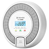 X-Sense Carbon Monoxide Alarm Detector, Replaceable Battery-Operated CO Alarm Detector with LCD Display, CO03D