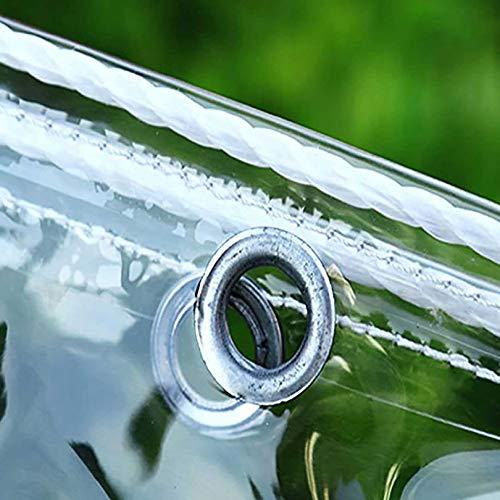 Lona transparente impermeable con ojales, material de PVC plegable, lona de barco a prueba de roturas y protección contra el viento para cubrir jardines, plantas, invernaderos, muebles de terraza de