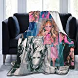 Needlove Jennifer Lopez Collage Throw Blanket Suitable Ultra Soft Weighted Bedding Fleece Blanket for Sofa Bed Office 80'x60' Travel Multi-Size for Adult