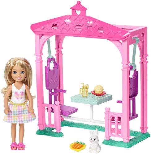 Barbie FDB34 Chelsea Puppe und Picknick Spielset