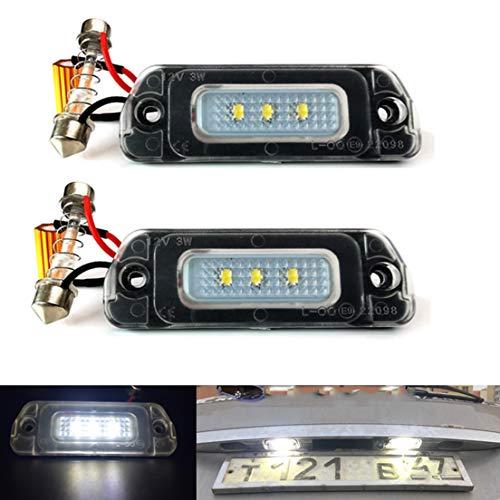 2 Stück 12V LED Kennzeichen Glühbirne Kein Fehler Canbus Für M-ercedes für B-ENZ AMG X164 W163 W164 W251 ML GL R 320 350 450 500 550 63