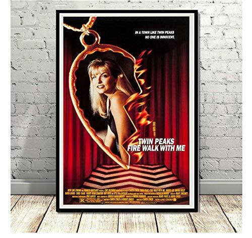 MTHONGYAO Poster Affiche Twin Peaks Série Télévisée Montre Affiche De Film Classique Et Impressions Toile Peinture Art Mur Photos pour Salon Décor À La Maison 50 * 70 Cm sans Cadre