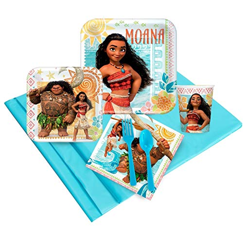 BirthdayExpress Disney Moana Party Supplies Party Pack (16)