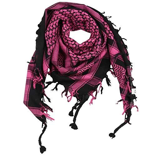 Superfreak Superfreak Palituch - schwarz - pink - 100x100 cm - Pali Palästinenser Arafat Tuch - 100% Baumwolle