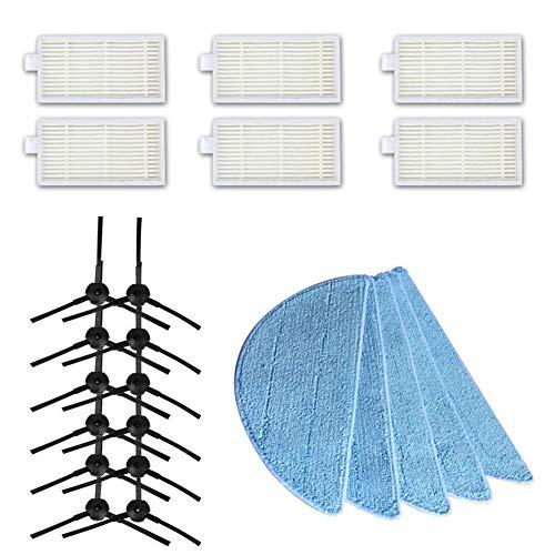 EisEyen reinigingsgereedschap, praktisch, voor Artefact, voor gereedschap, accessoires voor zijborstel van de filter Ilife V3 V5 V5S (filter met naam * 6 + zijborstel, 12 sproeiers + * 5)