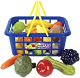 Casdon Kids Fruit and Vegetable Basket Roleplay,Blue/Yellow
