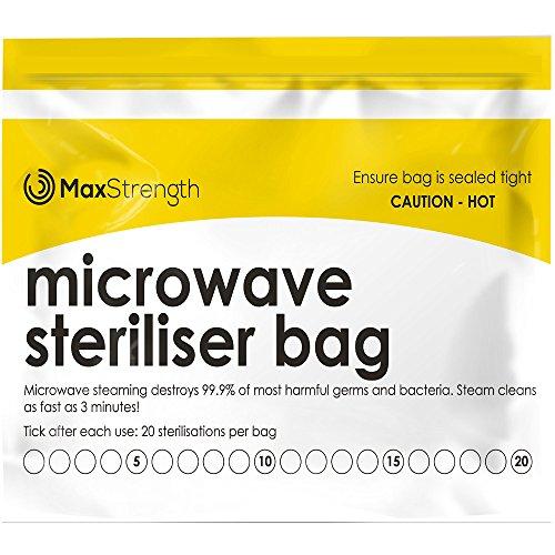 Bolsas de Esterilizador de Microondas Paquete de 20pc Premium de Máxima Fuerza