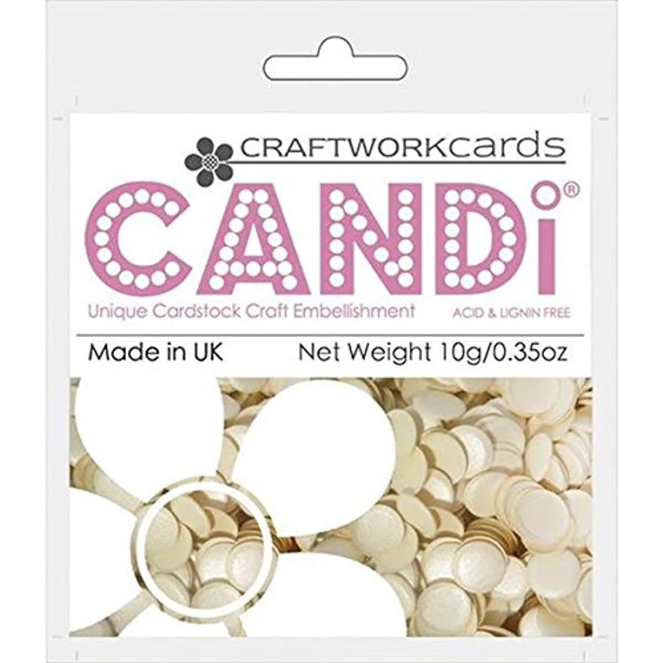 Craftwork Cards Candi Dot Color Pop Embellishments, 0.35-Ounce, Cookie Dough