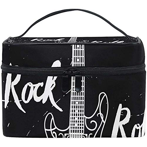 Guitare électrique Rock And Roll Cosmetic Bag Travel Makeup Train Cases Storage Organizer
