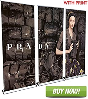 Signworld 10' HD Retractable Roll Banner Stand Display Wall Package