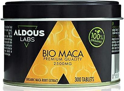 Extracto de Pura Maca Andina Ecológica Premium para 9 meses | 300 comprimidos de 2500mg | Altamente concentrada 10:1 | Aumenta Energía y Vitalidad | Libre de plástico | Certificación Ecológica Oficial