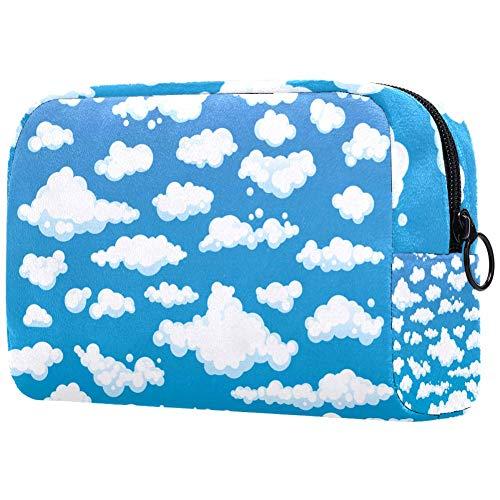 Trousse de toilette pour femme Motif nuages et ciel bleu