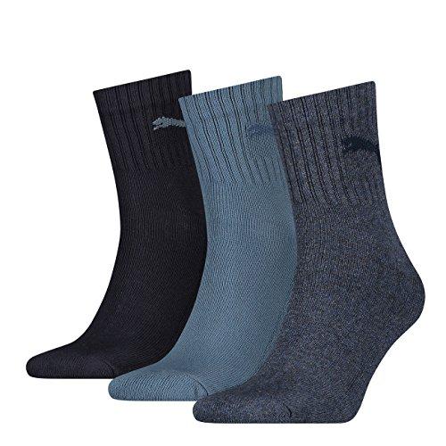 Puma Unisex Short Crew Socken Basic Sportsocken 6er Pack, Größe:43-46;Farbe:Denim Blue (460)