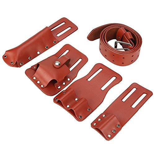 Cinturón de andamio, bolsa para cinturón de herramientas Bolsa de cuero para herramientas Herramientas de andamio con portaherramientas para llaves de nivel Martillo