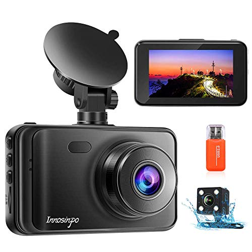 Upgraded Dash Cam Front and Rear Camera【2020 Newest Model】1080P FHD Dual Dash Camera Dashcam for Car DVR Dashboard Camera with Night Vision, 170° Wide Angle, Loop Recording, G-sensor, Parking Monitor