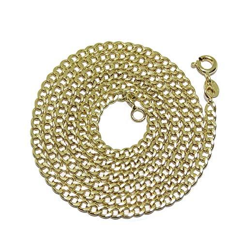 Cadena de Oro Amarillo de 18k de Oro para Hombre Modelo barbada Redonda de 4mm de Ancho y 60cm de Larga. Cierre reasa. Peso; 7.25gr de Oro de 18k