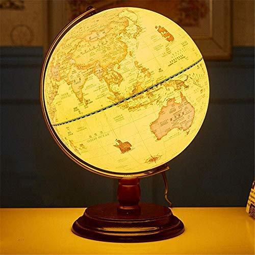 NOSSON Globe Vintage World Globe Antique Decorative Desktop Globe Rotating Earth Geography Globe Wooden Base Educational Globe Wedding GIFT