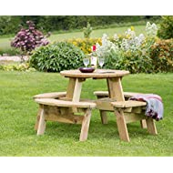 Katie Round Wood Picnic Table
