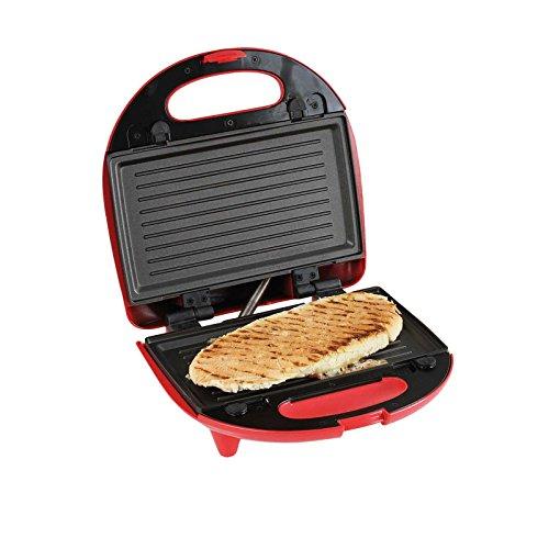 3in1 Doppel Waffeleisen Sandwichmaker Kontaktgrill Austauschbare Backflächen Elektrogrill (Tischgrill, Sandwichtoaster, 2 Belgische Waffeln, Panini Maker, Antihaftbeschichtung)