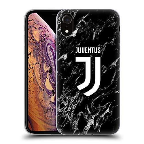 Head Case Designs Offizielle Juventus Football Club Schwarz Marmor Soft Gel Handyhülle Hülle Huelle kompatibel mit Apple iPhone XR