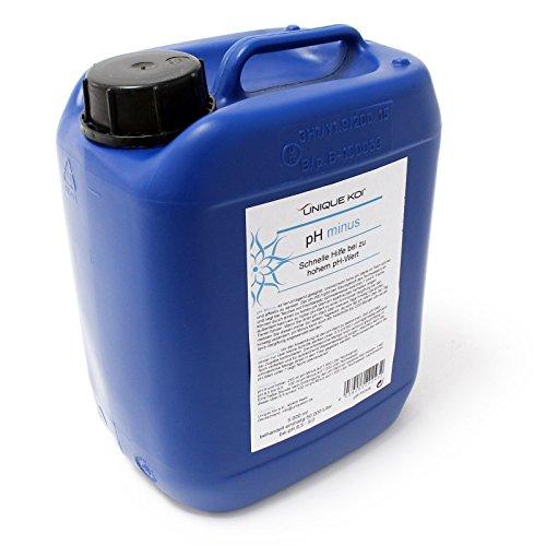 WilTec Unique Koi pH Minus 5000 ML pour 50000 l d´Eau du Bassin