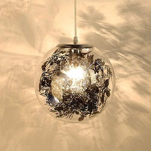 WEM Decoración de Pared Lámparas de Pared, Araña de Luces Pantalla de Cristal Lámpara de Techo Starlight Efecto de Destello Accesorio de Suspensión Personalidad Moderna Altura Ajustable Dormitorio Sa