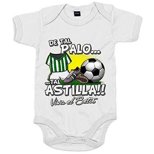 Body bebé De tal palo tal astilla Betis fútbol - Verde, 6-12 meses