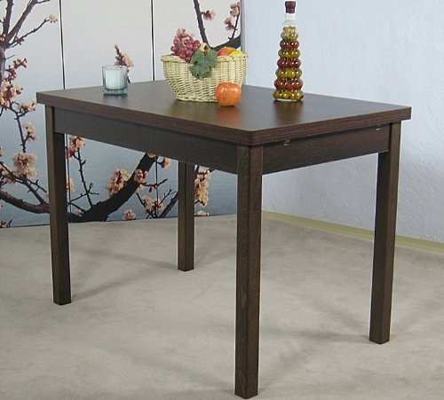 Auszugtisch L. 104-164cm Nussbaum Esstisch Esszimmertisch Tisch Küchentisch ausziehbar