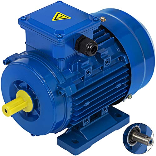 Mophorn Standard Motore Elettrico Trifase 400V 0.37kw Tipo B3 1 / 2HP Motori Elettrici 3000 RPM (YS7112-0.37KW)
