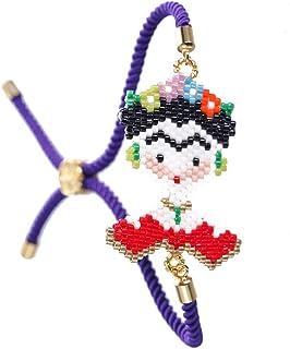 لينغدونغ فريدا كاهو سوار الخرز الخرز ميو أساور اليدوية المنسوجة المجوهرات للنساء الفتيات