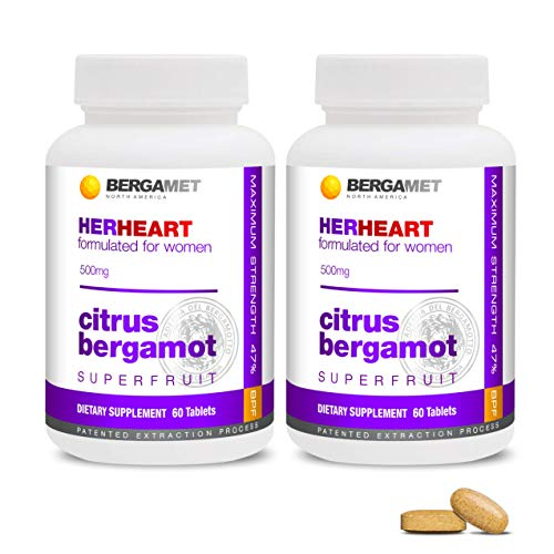 Women's HerHeart Citrus Bergamot SuperFruit | Maintain Heart Health, Cholesterol & Blood Pressure, Mood, Increase Metabolism & Energy, Weight Management | at Least 80% Polyphenol Formula | 2 Months