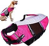 QBLEEV Dog Life Jacket Small,Life Vests Medium for Swimming, Dogs Pool Float Coat Swimsuits Flotation Device Life Preserver Belt Lifesaver Flotation Suit for Pet Bulldog Labrad