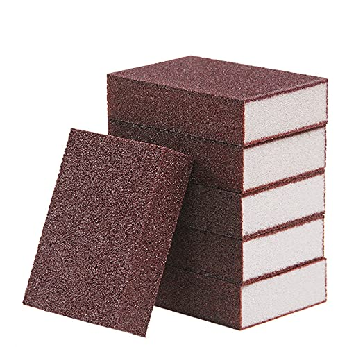 SqSYqz 12 esponjas de carborundum, nanoesponjas de esmeril,borradores de óxido,Almohadillas de Limpieza de ollas con carborundum, Herramienta de Limpieza de Cocina para Lavar
