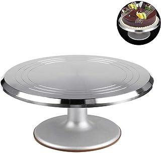 ケーキ回転台 アルミ合金 回転台 ケーキクーラー ケーキ装飾台 滑り止め ケーキ作り用 ターンテーブル ベーキング ツール デコレーション用 ベーキングツール 2インチ