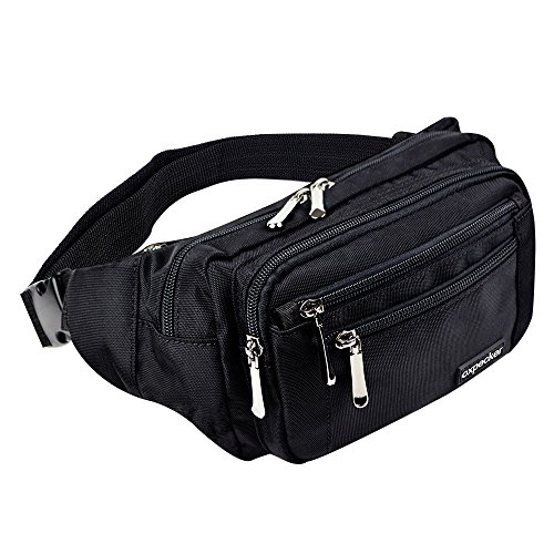 Oxpecker Waist Pack Bag with Rain Cover, Waterproof Fanny Pack for Men&Women, Workout Traveling...