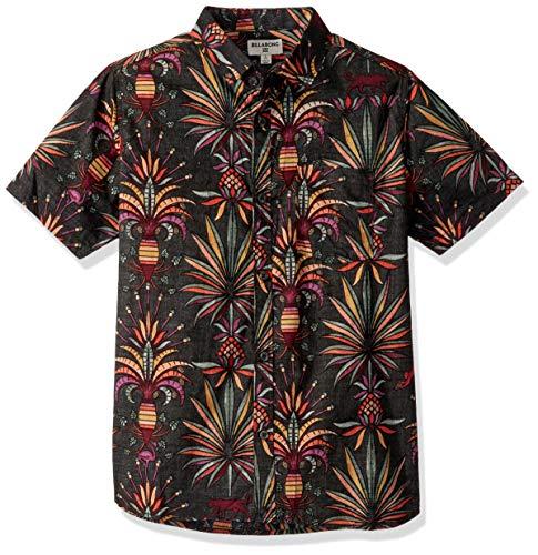 BILLABONG Jungen Sundays Floral Short Sleeve Shirt Button Down Hemd, schwarz, XL