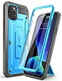 Supcase Unicorn Beetle Pro Series Case Designed for iPhone 11 Pro Max 6.5 Inch (2019 Release), Built-in Screen Protector Full-Body Rugged Holster Case (Blue)