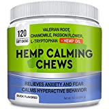 GOODGROWLIES Calming Hemp Treats for Dogs - Made in USA with Hemp Oil - Anxiety Relief - Separation...