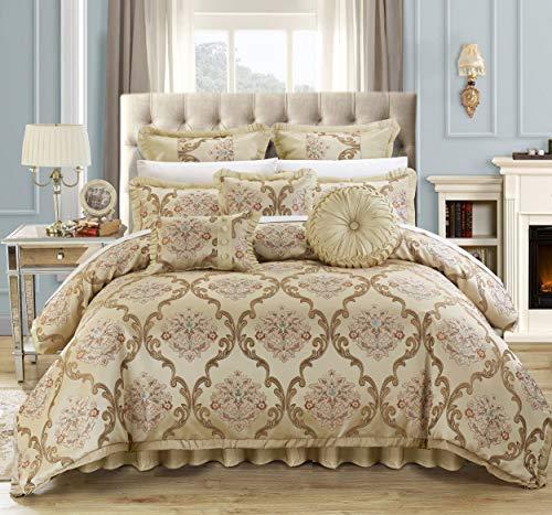 Chic Home 9 Piece Aubrey Decorator Upholstery Comforter Set