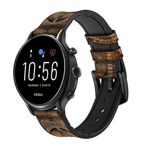 Innovedesire Clock Gear Steampunk Cinturino in Pelle Smartwatch per Fossil Womens Gen 5E, Womens Gen 4, Hybrid Smartwatch HR Charter Taglia (18mm)