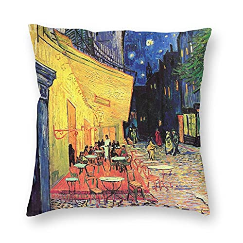 LisaArticles Fodere per Cuscini,Fodere per Cuscino Vincent Van Gogh Cafe Terrace At Night