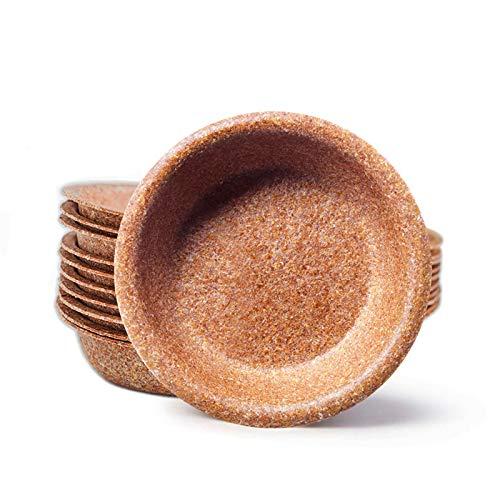 ECOMOLI Einweggeschirr aus Kleie – Schüsseln mit einem Durchmesser von 20cm 25/50/100 Stück Bio Einwegteller | Ofen - und Mikrowellengeeignet | Biologisch abbaubar | 100% Natürlich Essbar | Made in EU